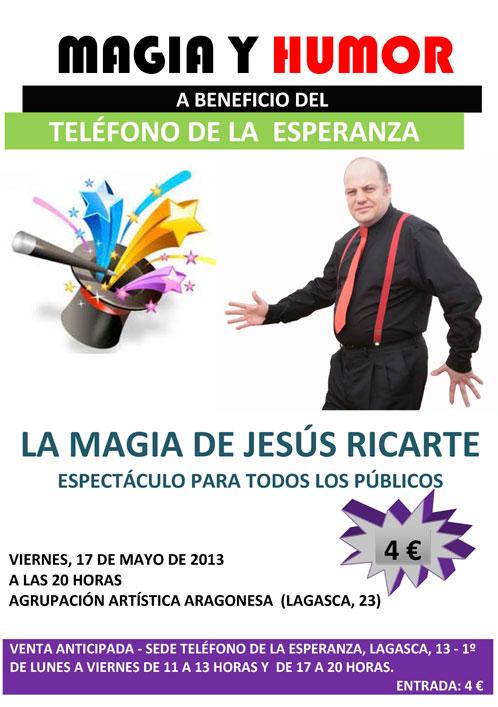 Magos en Zaragoza Jesus Ricarte. Magia y Diversión en Zaragoza.