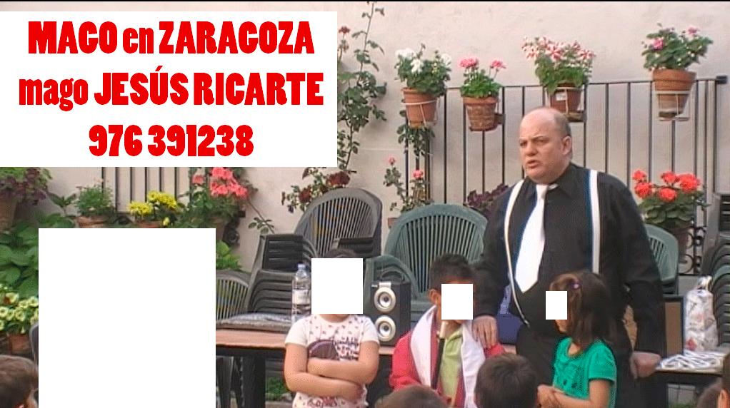 Animación infantil en Zaragoza Huesca y Teruel mago Jesús Ricarte